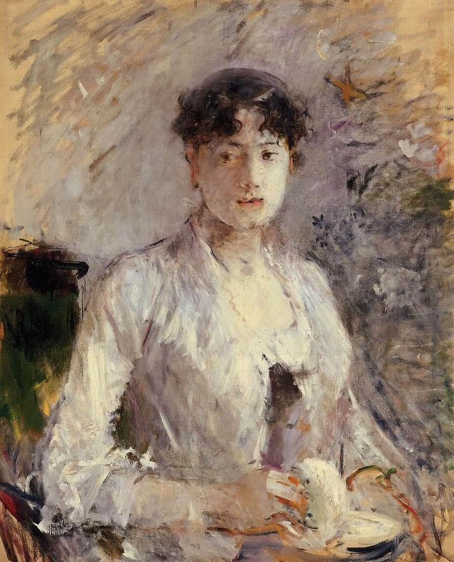"""Ung kvinna i Mauve"" av Berthe Morisot"